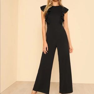 Shein jumpsuit, ruffle top, size M